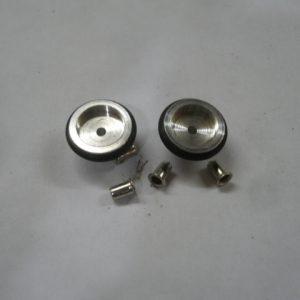 Roda dianteira de aluminio carros bolhas na escala 1/32 ou 1/24